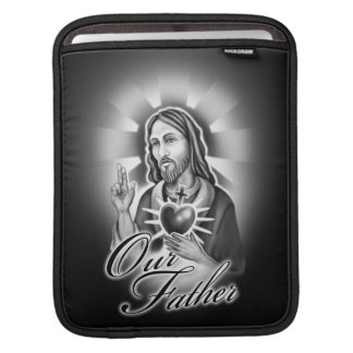 Jesus Christ Our Father design Sleeve For iPads