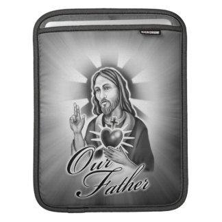 Jesus Christ Our Father design iPad Sleeve