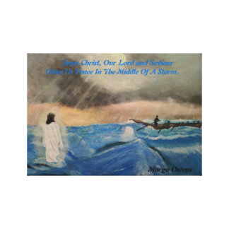 Jesus Christ, Our Lord Gives Us Peace Canvas Stretched Canvas Print