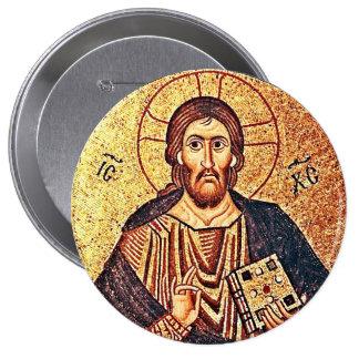 Jesus Christ Pantocrator Button