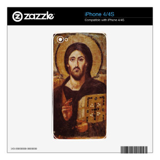 Jesus Christ Pantocrator Christian Icon Decal For iPhone 4