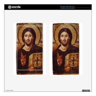 Jesus Christ Pantocrator Christian Icon Kindle Fire Skin