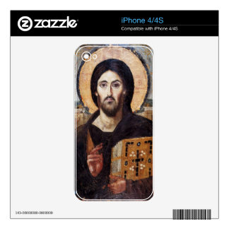 Jesus Christ Pantocrator Christian Icon Skin For The iPhone 4