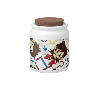 Jesus Christ Patterned Cookie Jar Candy Dishes