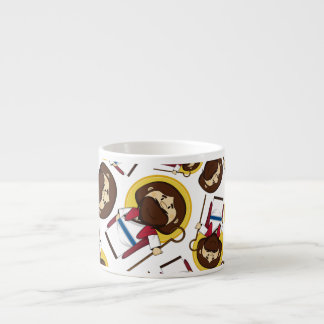 Jesus Christ Patterned Expresso Cup