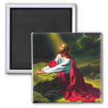 Jesus Christ Praying in the Garden of Gethsemane 2 Inch Square Magnet