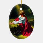 Jesus Christ Praying in the Garden of Gethsemane Ornament