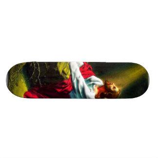 Jesus Christ Praying in the Garden of Gethsemane Skateboard Deck