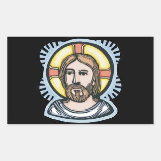 Jesus Christ Rectangular Sticker