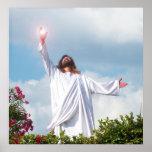 Jesus Christ Resurrection Easter Christian Poster