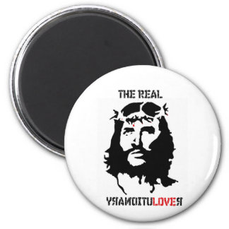 Jesus Christ Revolution 2 Inch Round Magnet