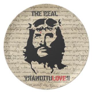 Jesus Christ revolutionary Melamine Plate