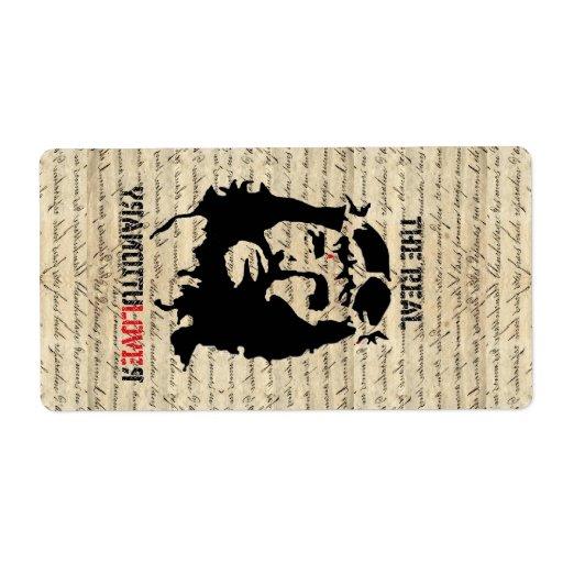 Jesus Christ revolutionary Shipping Label