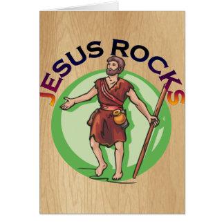 JESUS CHRIST ROCKS CARD