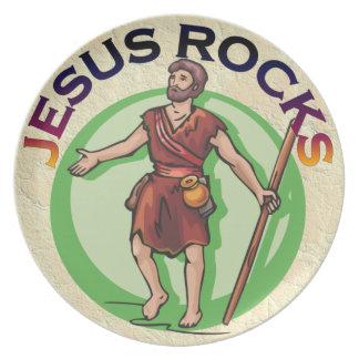 JESUS CHRIST ROCKS PLATES