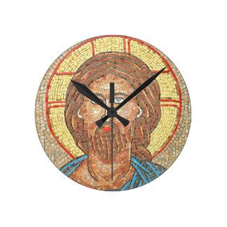 Jesus Christ Round Clock
