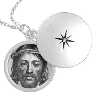 JESUS CHRIST ROUND LOCKET NECKLACE