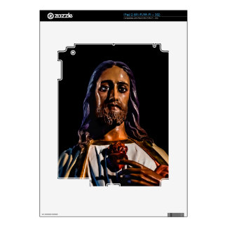 Jesus Christ Sculpture Photo Decal For iPad 2