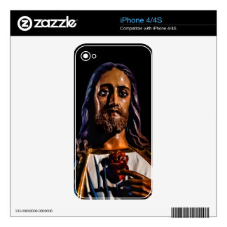 Jesus Christ Sculpture Photo Skins For The iPhone 4S