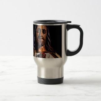 Jesus Christ Sculpture Photo Travel Mug