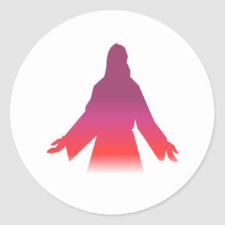 Jesus Christ Silhouette Classic Round Sticker