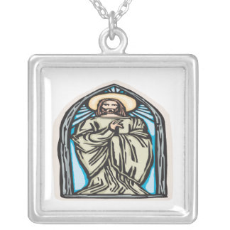 Jesus Christ Silver Plated Necklace