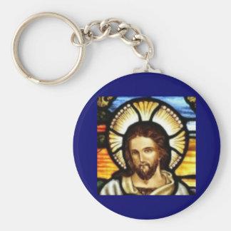 Jesus Christ Stained Glass Window Keychain