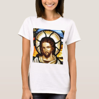 Jesus Christ Stained Glass Window T-Shirt