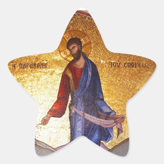 JESUS CHRIST STAR STICKER