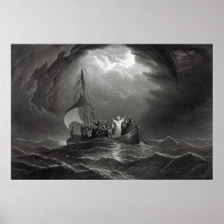 Jesus Christ Stills the Tempest Poster