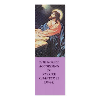 Jesus Christ Suffers In Gethsemane-Bible Marker Double-Sided Mini Business Cards (Pack Of 20)