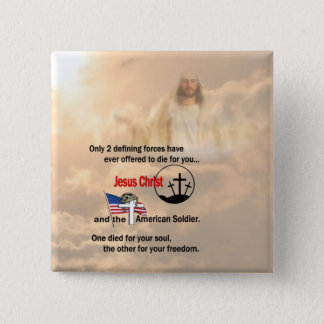 Jesus Christ & the American Soldier Button
