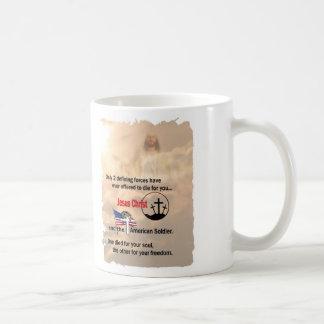Jesus Christ & the American Soldier Coffee Mug
