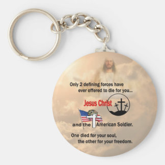 Jesus Christ & the American Soldier Keychain