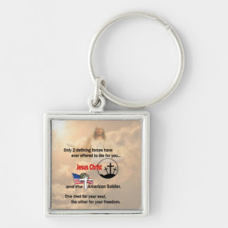 Jesus Christ & the American Soldier Keychain
