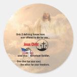 Jesus Christ & the American Soldier Classic Round Sticker