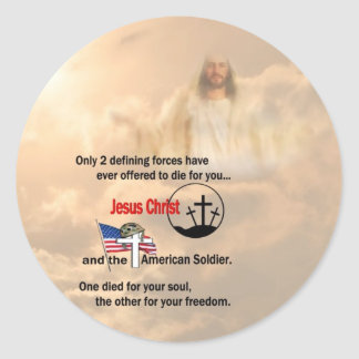 Jesus Christ & the American Soldier Stickers