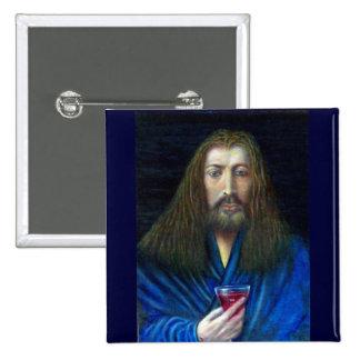 JESUS CHRIST,THE CHALICE PINBACK BUTTON