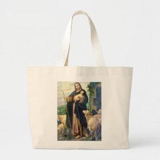 JESUS CHRIST THE GOOD SHEPHERD TOTE BAG