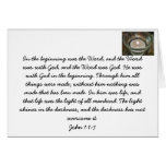 Jesus Christ. The Word of God. Bible verse card
