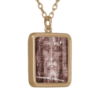 Jesus Christ Turin Gold Plated Necklace