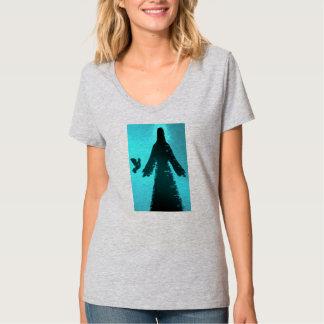Jesus Christ turquoise Silhouette T-Shirt