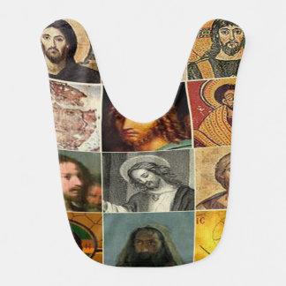 Jesus christ,vintage collage,antique,victorian baby bibs