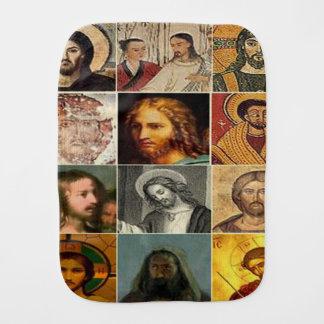 Jesus christ,vintage collage,antique,victorian burp cloth