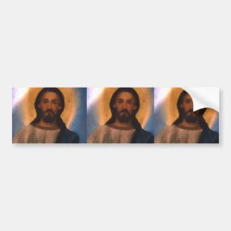 Jesus Christ Vintage Hand Painted Orthodox Icon Car Bumper Sticker