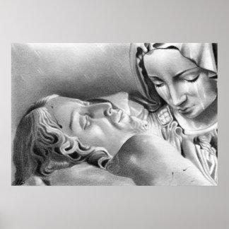 Jesus Christ Virgin Mary Poster