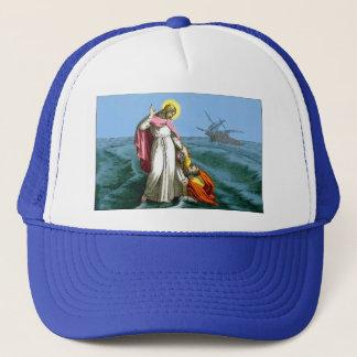 Jesus Christ Walking on Water Trucker Hat