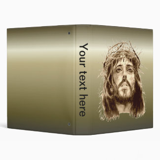 Jesus Christ with a Crown of Thorns 3 Ring Binder