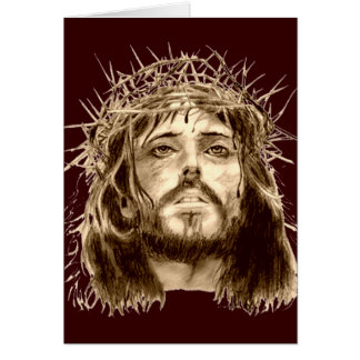 Jesus Christ with a Crown of Thorns Greeting Card