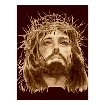 PictureGiftProducts Jesus Christ with a Crown of Thorns Poster